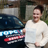 I would like to say thank you to Lynne from Topclass Driving School for all her time in helping me pass my driving test. I would highly recommend Lynne and Topclass Driving School to anyone wanting to take driving lessons.<br /><br />Thank you Lynne!<br/><br/><b>Rebekkah Mortimer</b>, Maidstone Kent
