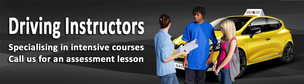 Driving instructors, specialising in intensive courses